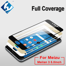 Full Screen Front Protection Glass Film For Meizu Meilan 3 M3 5.0inch Printing Toughened Glass Protector For Blue Charm 3 M3(China (Mainland))