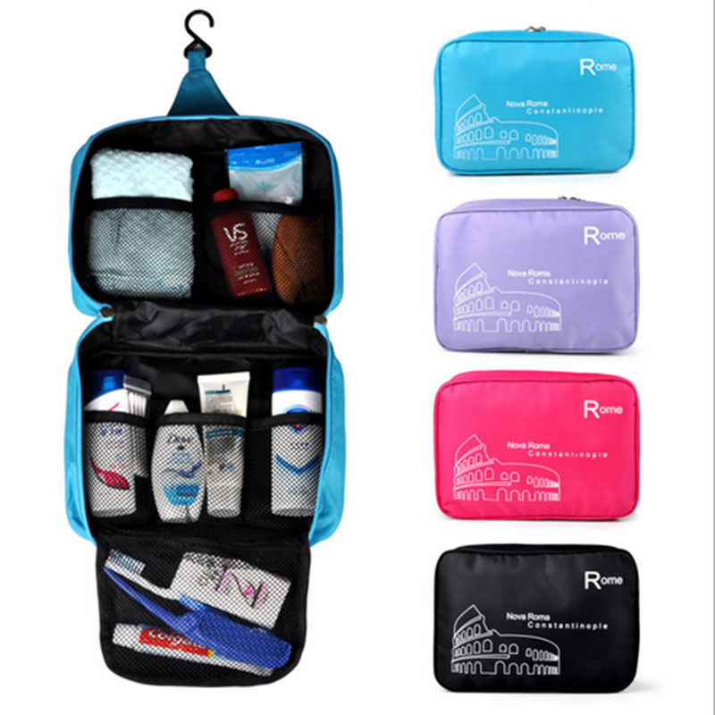 1Pc New Men & Women Portable Organizer Foldable Travel Bag Hanging Storage Bags Toiletry Bags Wash Pouch 4 Colors Free Shipping(China (Mainland))