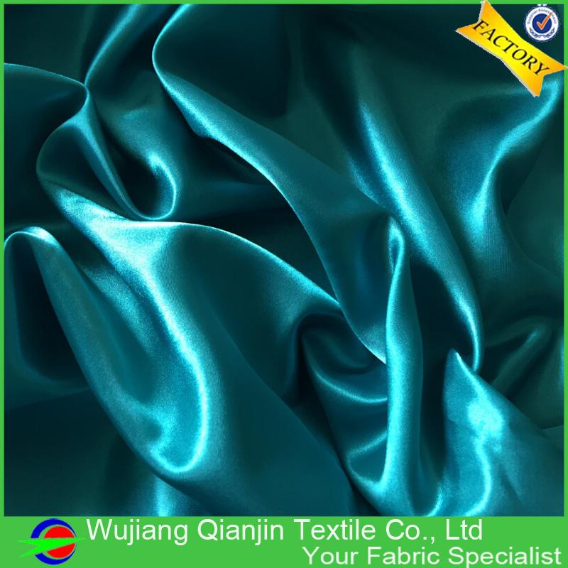 2016 hot sale high quality cheap light dark green satin silk fabric(China (Mainland))