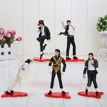 "5pcs/set NEW 4"" (11cm) MICHAEL JACKSON FIGURES dolls SET OF 5 POSE figures(China (Mainland))"