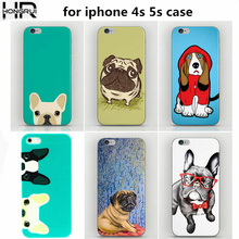 New Fashion Happy Perky Pug Dog Printed Mobile phone Cases Cover for Apple iPhone SE 5s 5c 6 6s Samsung S3 S4 S5 S6 S6edge S7