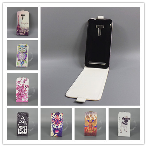 ASUS Zenfone 2 Laser ZE550KL 5.5 inch Hot Pattern Cute PrintingVertical Flip Cover Open Down/up Back filp leather case  -  small grocery store111 store