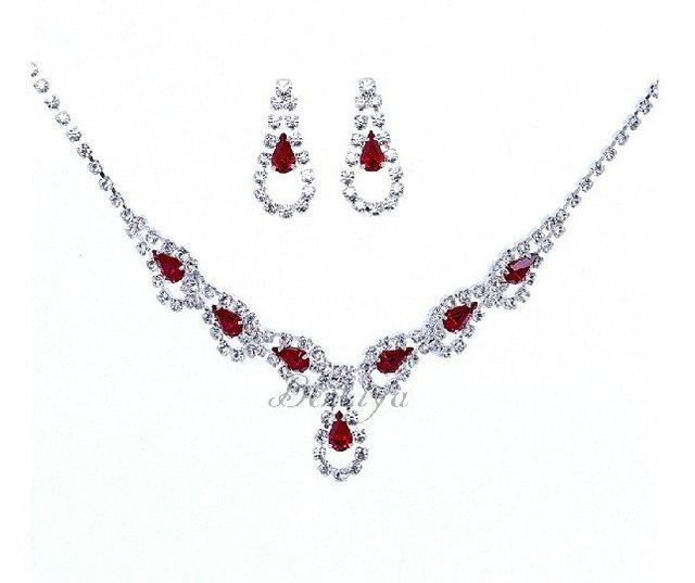 Free Shipping 3pcs/lot Fashion Bridal Necklace Set Cheap Hot Sale Women Costume Jewelry Sets Wedding Decoration Christmas Gift