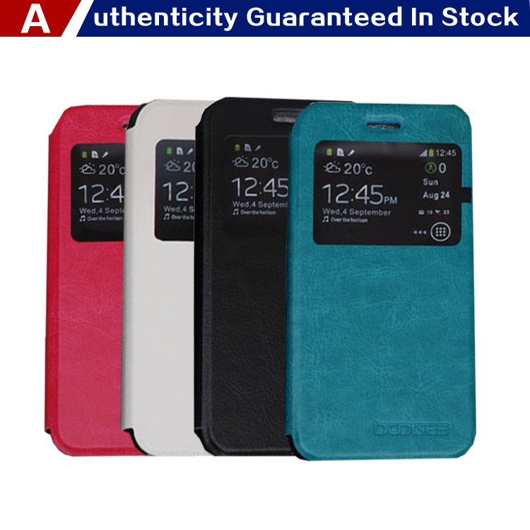 Free Shipping Leather Hard Case For Doogee LEO DG280 View Window Design Phone Cover Bag DG280 Case Cover + Track Number(China (Mainland))
