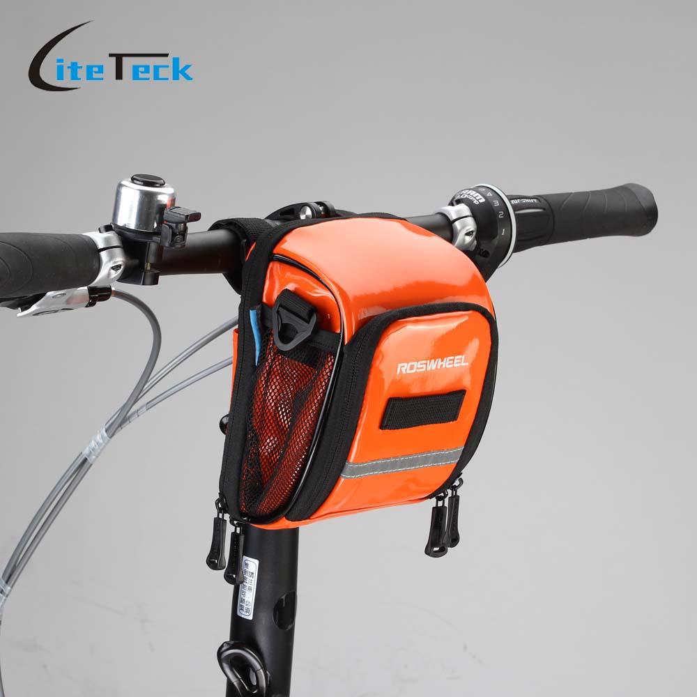 ROSWHEEL Bicycle Bags PU Cycling Bike Handlebar Front Frame Bag Waterproof Bicycle Saddle Back Pannier for MTB Mountain Bike(China (Mainland))