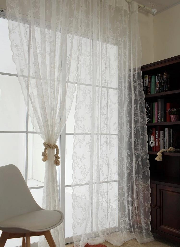 Atmospheric Minimalist Style Lace Window Curtains Tulle