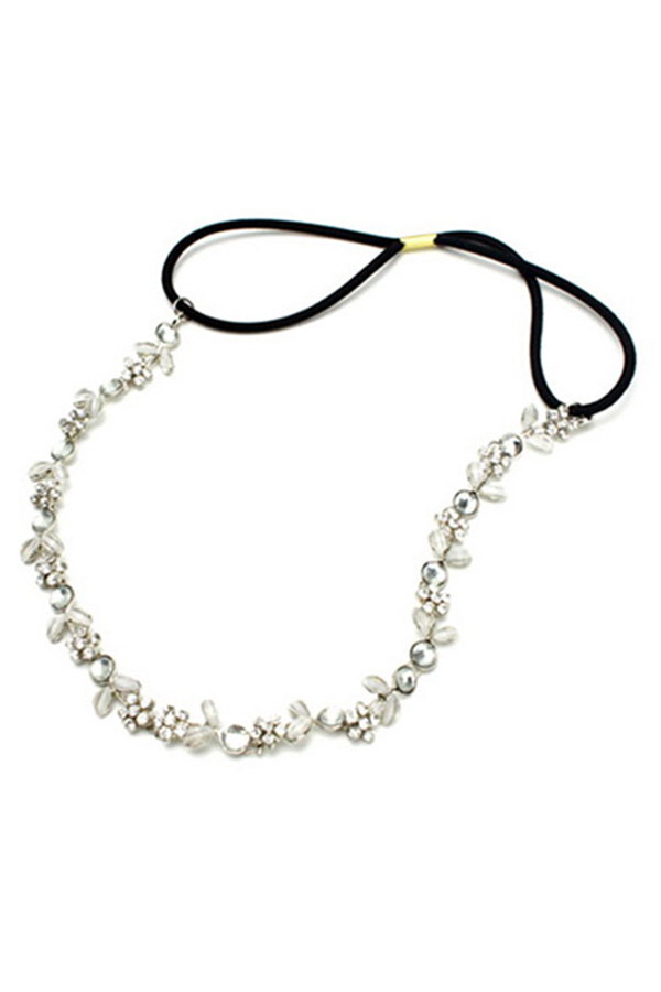 Beatiful Women Girls Elastic Fashion Rhinestone Headband Head Chain Elegant Sweet Sexy Fashion Chic Stylish Vogue New(China (Mainland))