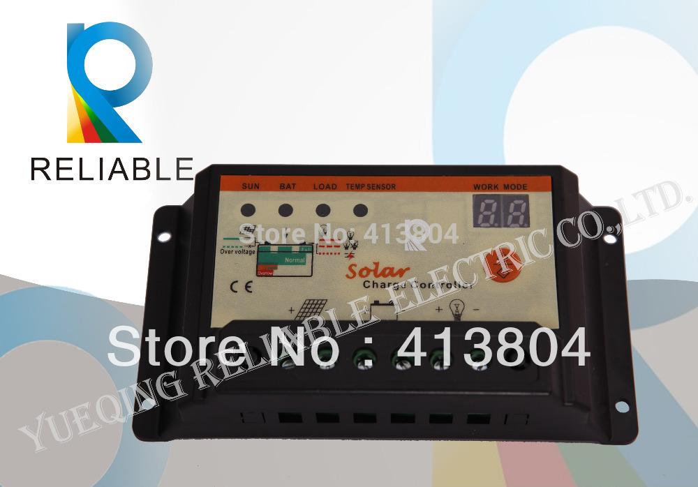 10A LED Solar Controller PWM 12V/24V Auto Solar Charge Controller panel battery charge controller(China (Mainland))