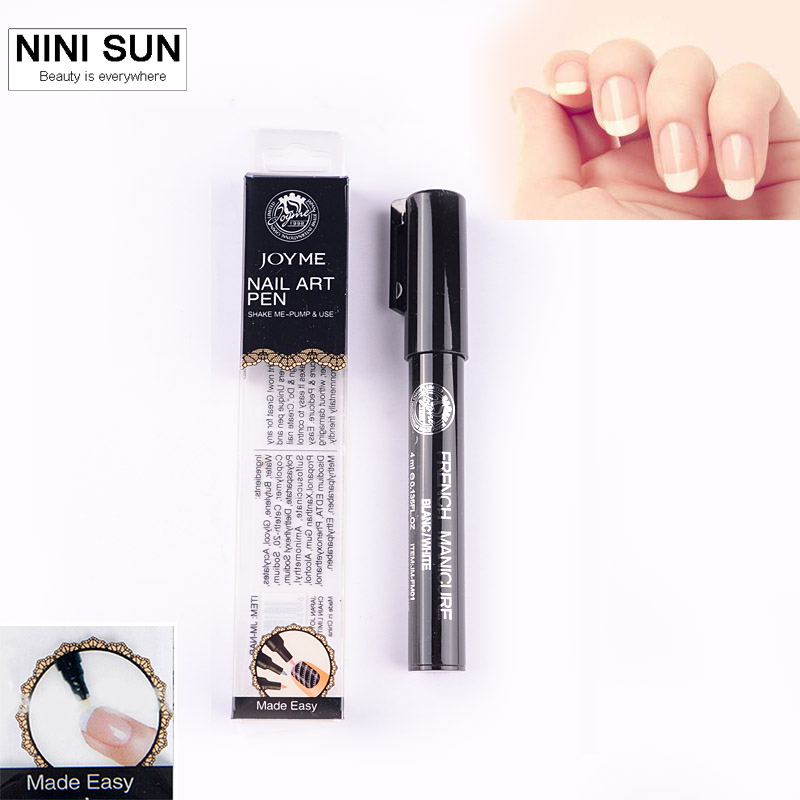 Hot High Quality French Nail Art Pen Manicure Pedicure Nail Polish Nail Art Tools Beauty Painting Design Equipment 2016 New Sale(China (Mainland))