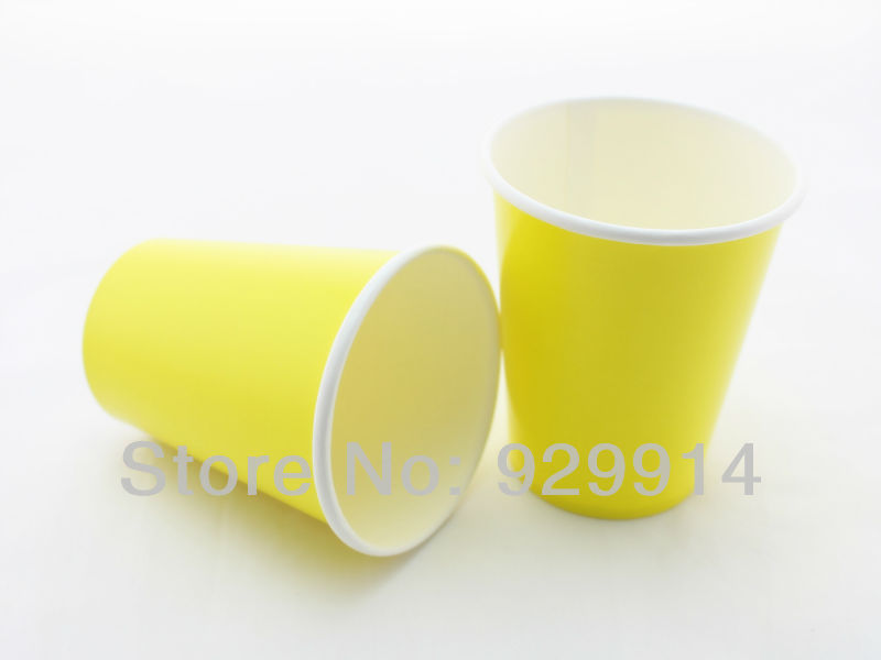 Promotion Birthday Wedding Party Favor Disposable Paper Drinking Cup for Juice Cola Beverage Drinking(China (Mainland))
