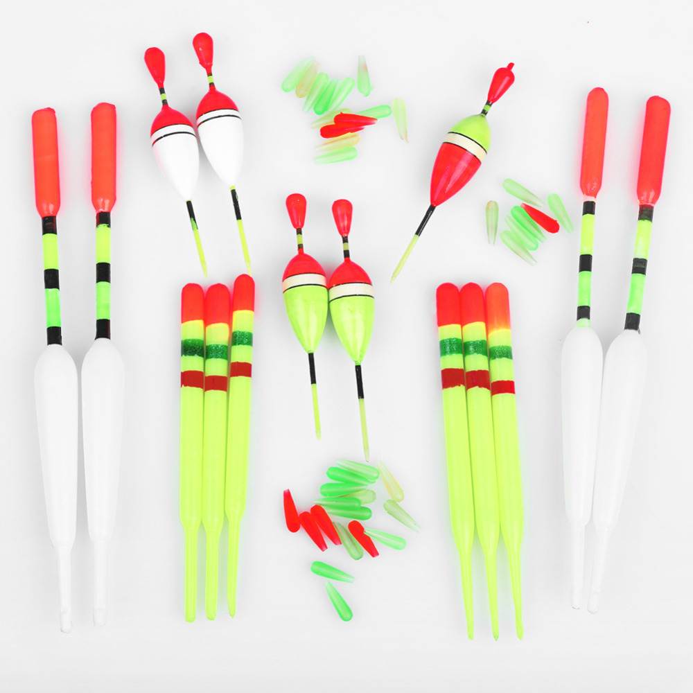 [해외]15pcs Fishing Lure Floats Bobbers Slip Drift Tube I..