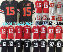 15 Ezekiel Elliott 97 Joey Bosa Jersey,12 Cardale Jones J.T Barrett Ohio State Buckeyes men NCAA College football jerseys cheap(China (Mainland))