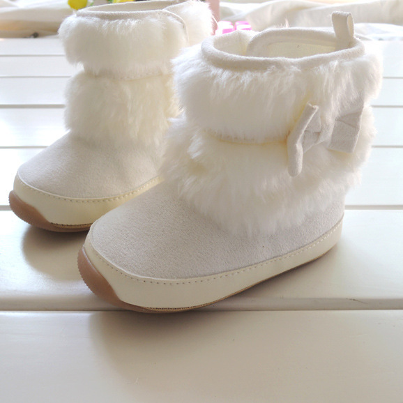 Brand Winter Rubber sole baby shoes prewalker first walkers baby&kids boots girls warm Cotton-padded 8838 - BABY&KIS SHOES store