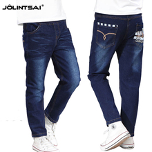New Spring Autumn Jeans For Boys 2015 Print Children's Jeans Full Length Kid Children Clothing Washed Trousers Denim Pants