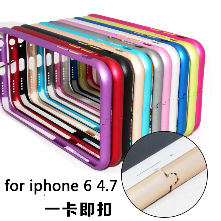 for IPhone64.7 high quality aluminum products mobile phone casing frame 2015 luxury hot, multicolor free shipping(China (Mainland))