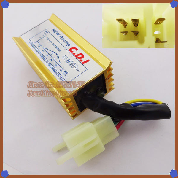 Performance Gold Ignition AC CDI Box 6 pins 50cc 110cc 125cc 150cc 200cc 250cc ATV Quad Dirt Bike Moped Scooter Motorcycle - Sunshine Speed store