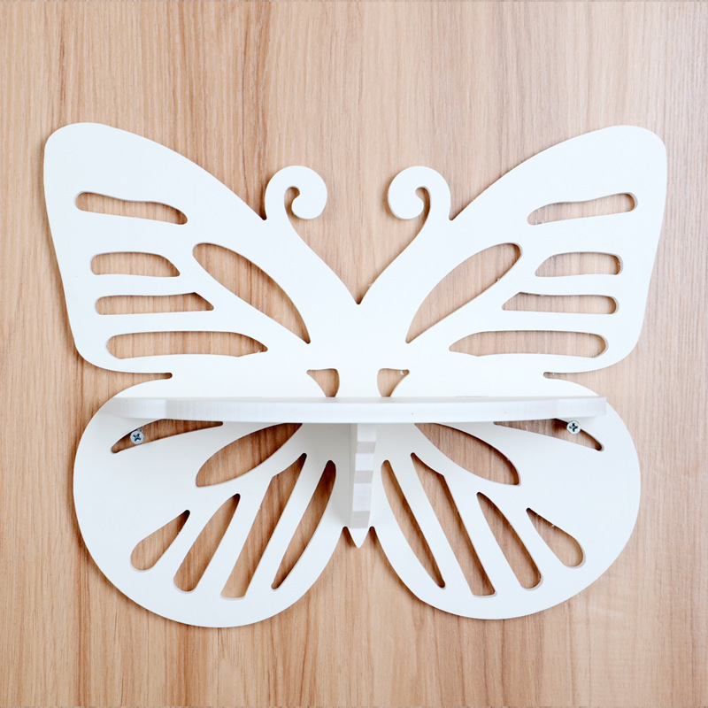 2015 new White Butterfly Hollow Wall Shelf home Decorations tools Furnishings Wall Hangings(China (Mainland))