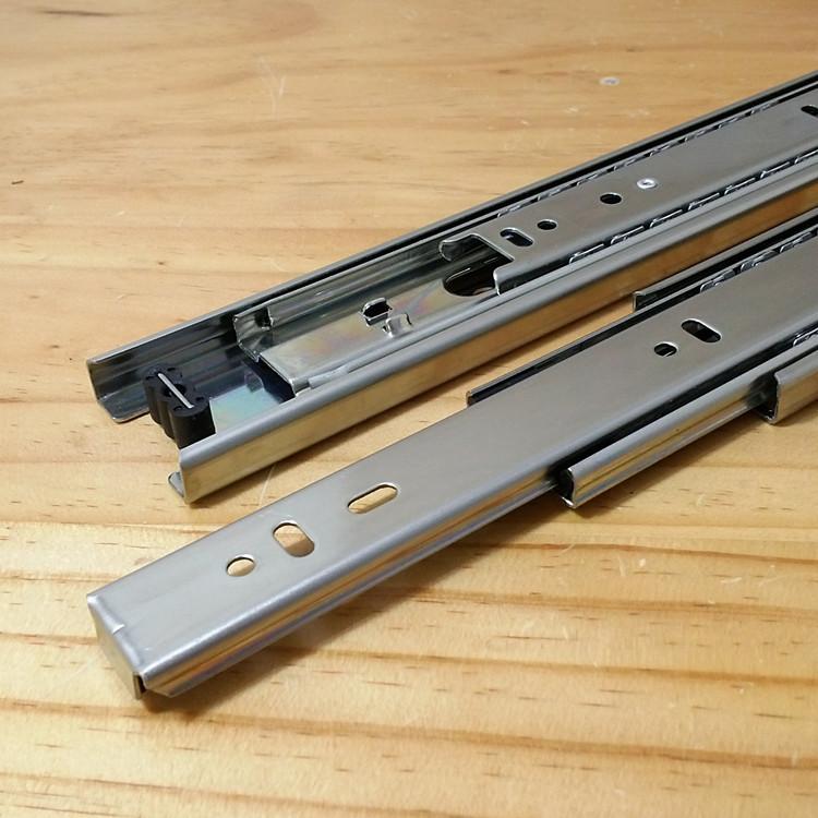 Xing solid Jakarta long three track mute drawer slide rail track three rail 45 W(China (Mainland))