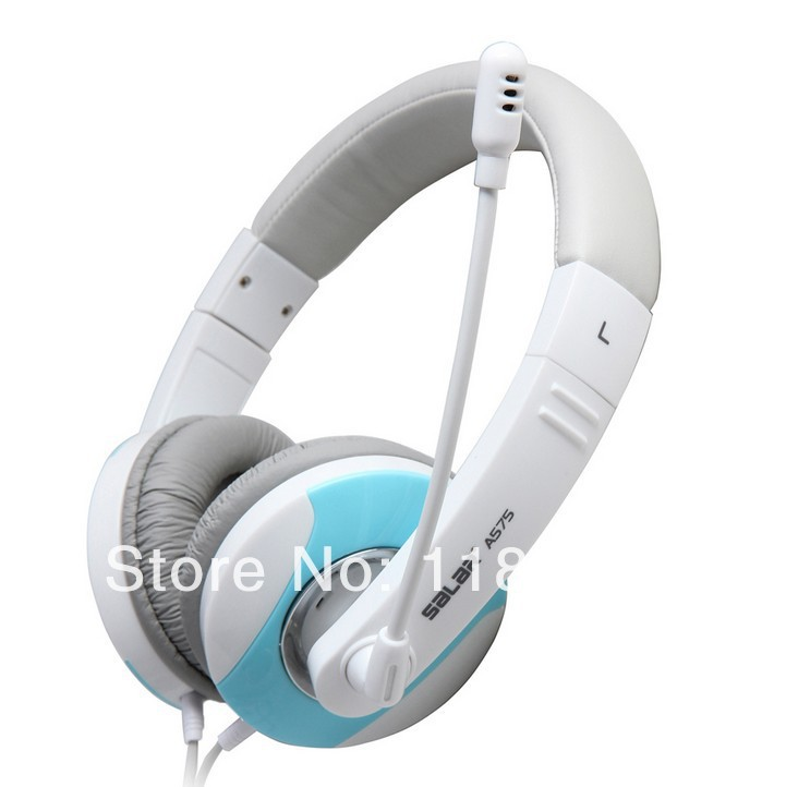 Free Shipping SOMIC SALAR A575 headphone earphones for MP3 MP4 game earphones with mic volume control A575(China (Mainland))