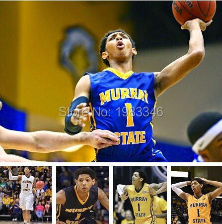 NCAA 2015 draft murray state university #1 cameron payne Basketball Jersey White, Custom Team Name numbers 100% Stitched