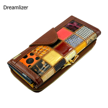 3 Fold Fashion Genuine Leather Women Wallets Patchwork Hasp Coin Pocket Female Clutch Carteira Feminina Women Purse Wallet