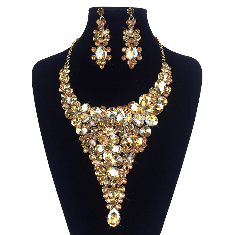 Buy fashion bridal jewelry set gorgeous for Costume jewelry for evening gowns