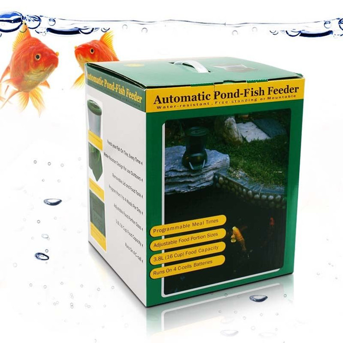 Large capacity automatic pond fish feeder 4l fish food for Bottom feeder fish list