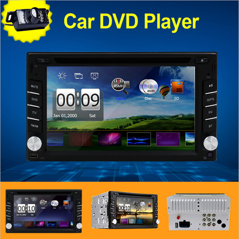 Car Radio 2 Din Car DVD Player New Universal In-Dash Headunit GPS navigation Car Stereo Autoradio Computer Free Map Card+ Camera(China (Mainland))