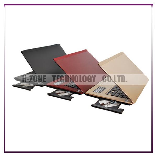 Free ship+ Russian Keyboard +Russia system WIN7 OS 14 inch silk metal silk laptop notbook intel ATOM N2600 4GB RAM 500GB HZ-D141(Hong Kong)