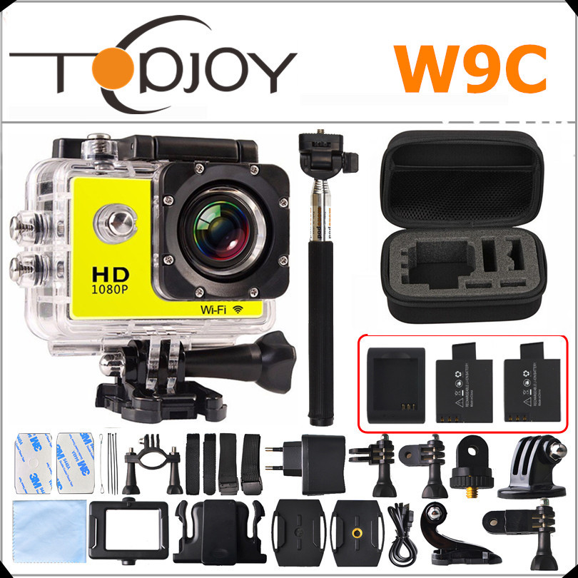 Gopro Style Action Camera 1080P Full HD Wifi Sport DV W9C 170D Mini Camera Car Camera DVR Camcorder Hero 4 Style Action Camera(China (Mainland))