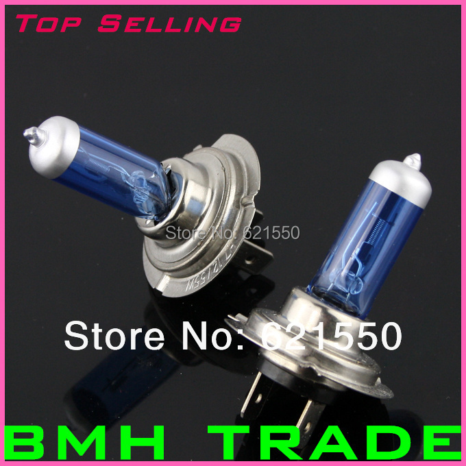 New Arrival H7 Low Beam Light New Super White Light Bulb 5000K~ 6000K 2 Pcs 12V 55W H7 Halogen Xenon Wholesale Fast Freeshipping(China (Mainland))