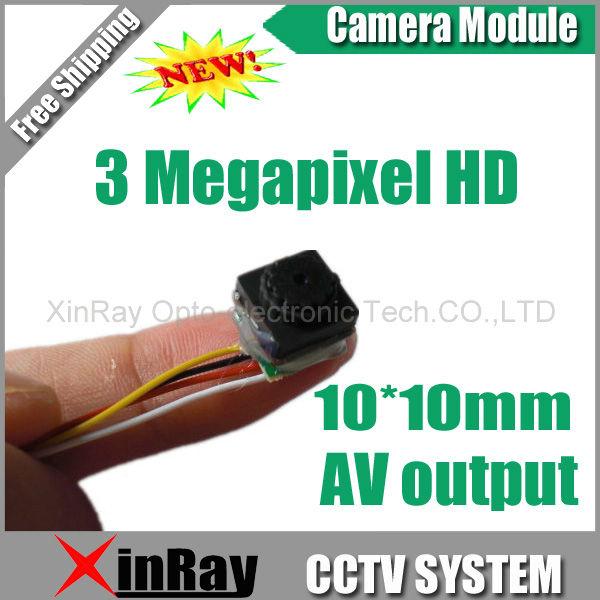 Free shipping,3.3-5V 10mm 3 Mega Pixels HD Mini Camera Module,Model Airplane Commercial Installation CCTV Camera Module XR-CM1(China (Mainland))