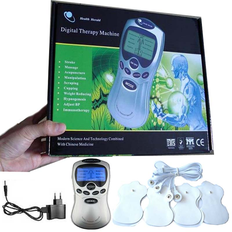 Health care beauty Full Body Massage Tens Acupuncture Digital Therapy Machine Massager For Back Neck Foot Amy Leg Free Shipping(China (Mainland))