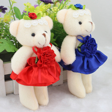 Wholesale cartoon teddy bear wedding doll gift baby girls toys bear doll for flower bouquet bear creative valentine's day gift