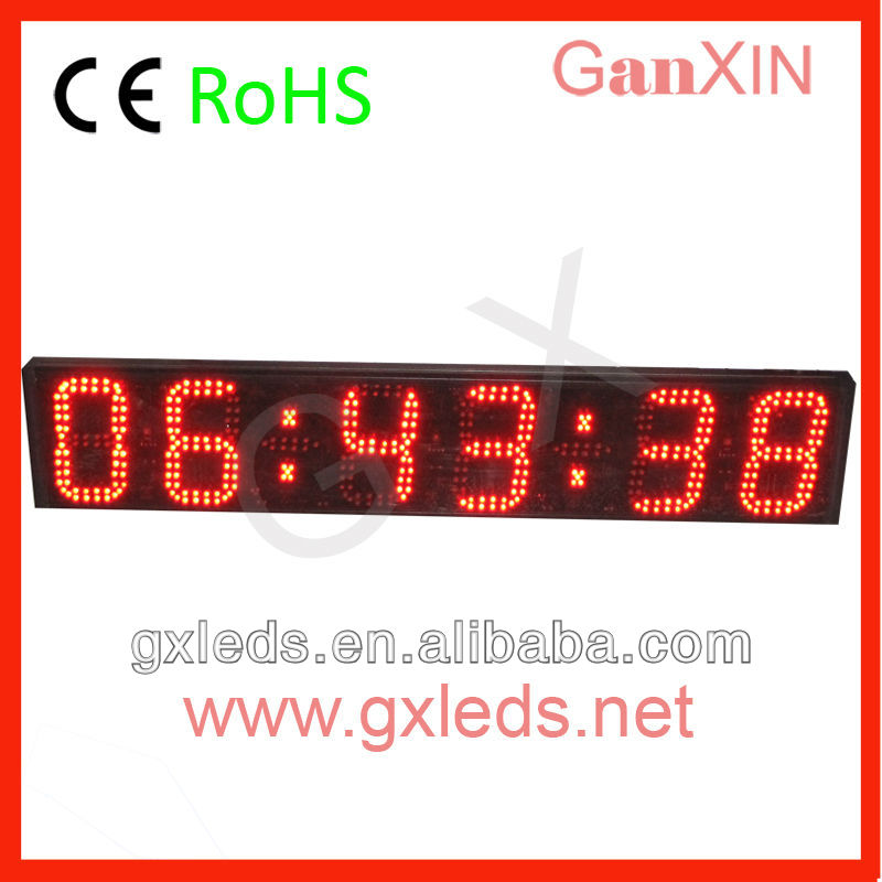 alibaba express remote control 6 digit 6 inch led date display(China (Mainland))