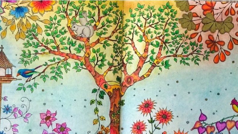 Secret Garden Coloring Pages Finished RedCabWorcester