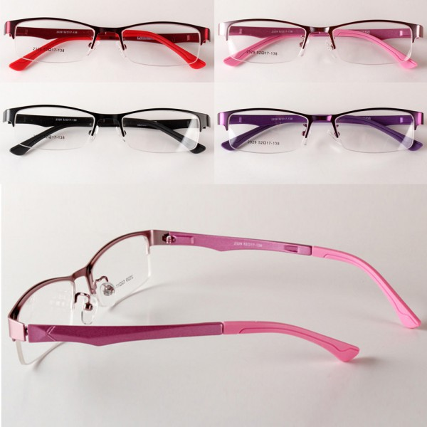 Womens Eyewear Half Rim Eyeglasses Frame Optical Glasses Myopia Glasses Free&Drop Shipping