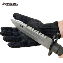 1 Pair kevlar Gloves Proof Protect Stainless Steel Wire Safety Gloves Cut Metal Mesh Butcher Anti-cutting breathable Work Gloves
