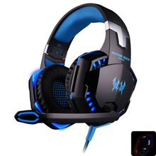 EACH G2000 professinal Headphones Gaming Headset stereo bass with microphone noise reduction led light for computer pc gamer