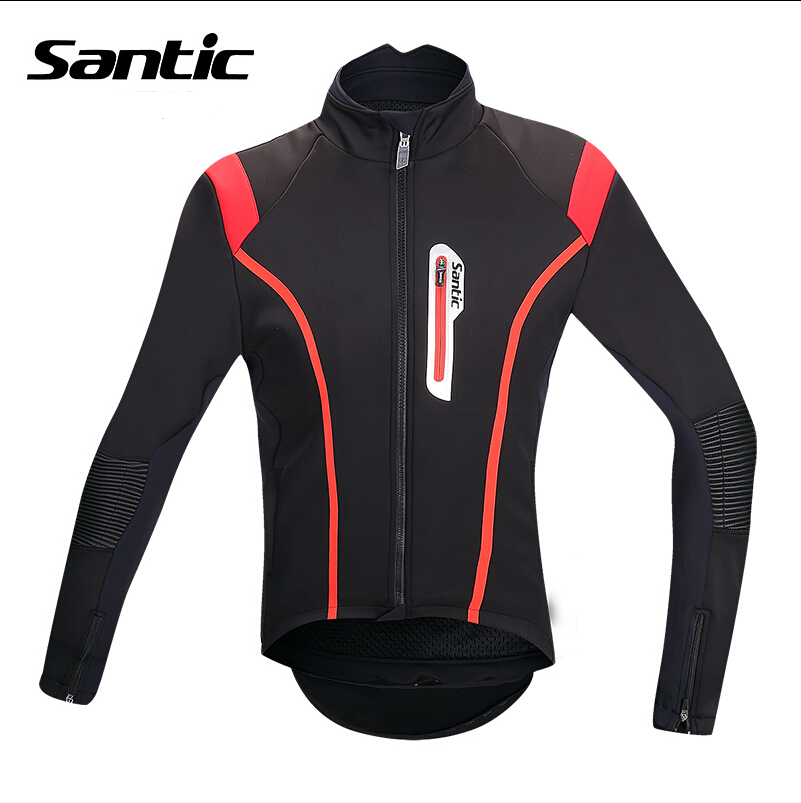 Фотография Santic High Quality Cycling Jersey Jacket Men Winter Fleece BikeCycling Jackets Windproof Outdoor sports Clothes Ciclismo Jacke