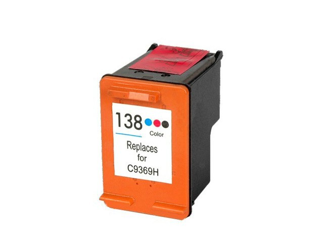 colored cheap ink cartridge for hp 138 hp138 (C9369H) for hp Deskjet 5443 5743 5940 5943 6543 6843 9803 printer(China (Mainland))