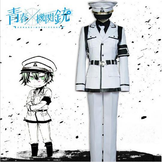 Anime Aoharu x Kikanjuu Nagamasa Midori Halloween Cosplay Costume COS Unisex Military Uniform For Women MenОдежда и ак�е��уары<br><br><br>Aliexpress
