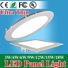 Ультратонкий из светодиодов панель светильник 3 Вт 4 Вт 6 Вт 9 Вт 12 Вт 15 Вт 18 Вт круглый / площади из светодиодов потолочные встраиваемые AC85-265V из светодиодов панели SMD2835