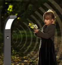 New intelligent human infrared sensor led Continental Lawn garden lights home garden lights outdoor waterproof high pole + EMS(China (Mainland))
