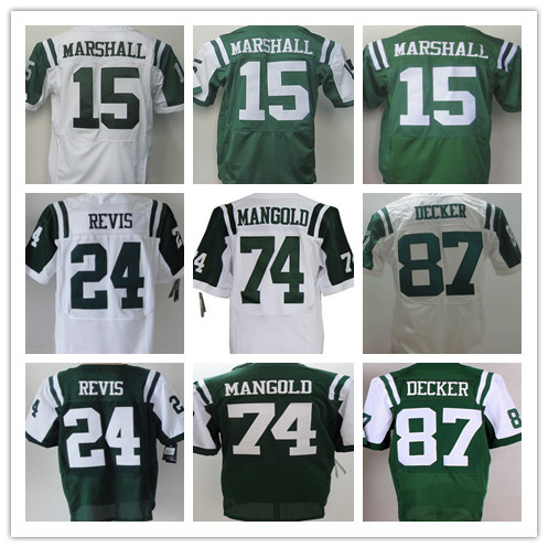 Men's Stitched Elite #24 Darrelle Revis jersey #15 Brandon Marshall Jets Football Jersey #87 Eric Decker Jerseys Best Quality(China (Mainland))