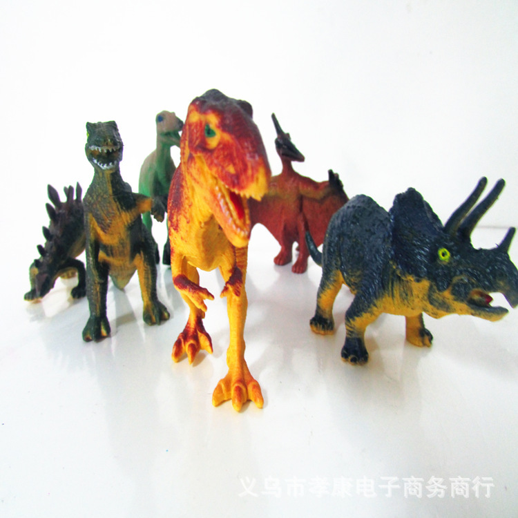6pcs new dinosaurs Tyrannosaurus Rex Stegosaurus pterosaur animatronic dinosaur models of children's educational toys set XK(China (Mainland))