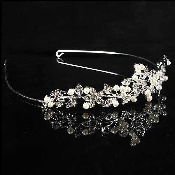 BitBill Metal Crystle Flower Wedding Bridal Tiara Alloy Prom Party Head Band(China (Mainland))