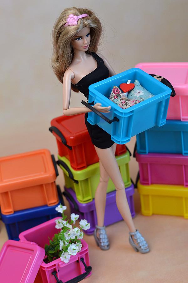 Model new doll garments footwear storage field/ cupboard for 1:6 Barbie doll BA001