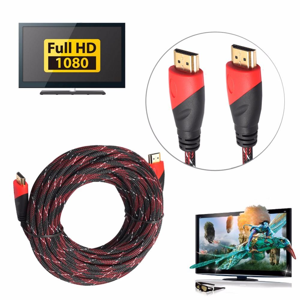 Großhandel Neue Geflochtene Hdmi Audio / Video Kabel V1.4 Av Hd 3d ...
