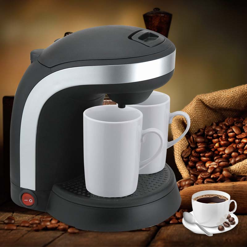 Electric Double Serve 2 Cups drip coffee maker Cafetera express Fully automatic coffee machine Kitchen Appliances
